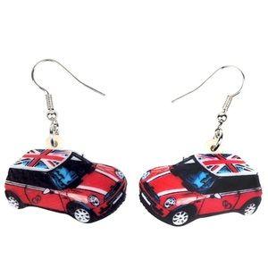 British Mini Car Acrylic Earrings